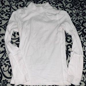 Free People Long Sleeve White T-Shirt